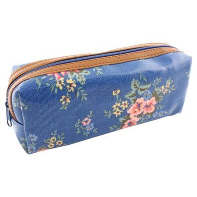 Ditsy Floral Pencil Case Blue