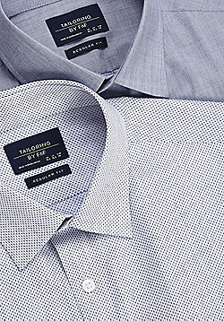 F&F 2 Pack of Easy Care Regular Fit Long Sleeve Shirts - Grey & White