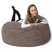 Lounge Pug® Mammoth Bean Bag Sofa - Cord Mink