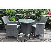 Royalcraft Paris Bistro Set 70cm Round Table with 2 Carver Chairs incl. cushions