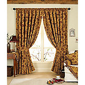 Riva Home Zurich Gold Pencil Pleat Curtains - 90x90 Inches (229x229cm)