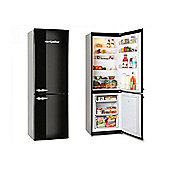 Montpellier MAB365K Retro Fridge Freezer in Black
