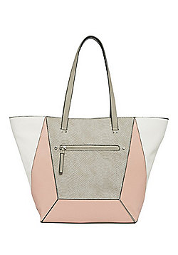 F&F Croc Effect Panel Tote Bag