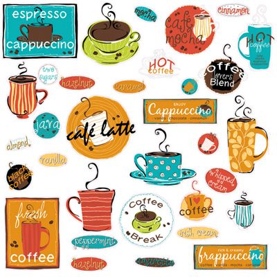 Kitchen Wall Stickers - Café