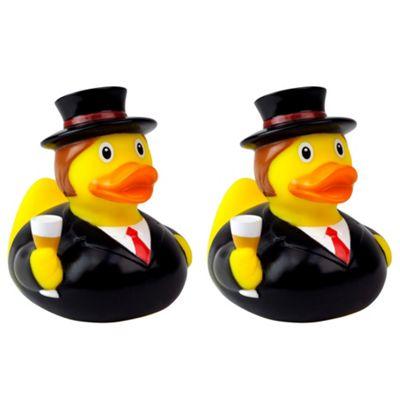 Lilalu Groom and Groom Wedding Rubber Duck Bathtime Toys