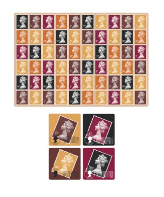Harrison Stamp Design Luxury Placemats & Coasters, Set of 4