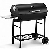 VonHaus 105cm Charcoal Barrel BBQ with Side Table