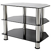 AVF Universal Black and Chrome TV Stand For up to 32 inch TVs