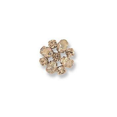 Impex Diamante Round Button - Crystal 22mm