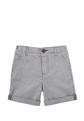 F&F Pinstripe Chino Shorts Grey/White 2-3 years
