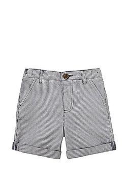 F&F Pinstripe Chino Shorts - Grey/White