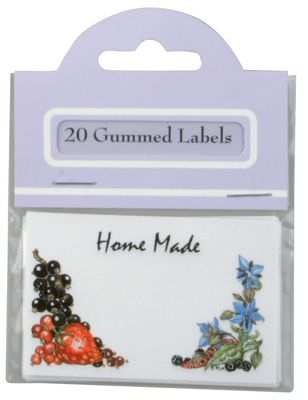 Traditional Gummed Rectangle Home Made Produce Labels, Pack of 20
