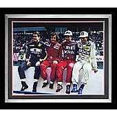 "Hand Signed NIGEL MANSELL F1 Framed Iconic 30""x24"" Photo - PROST SENNA PIQUET"