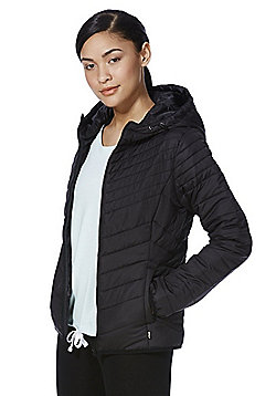 Only Quilted Hooded Jacket - Black