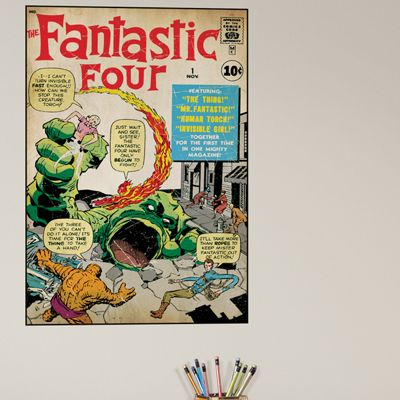 Comic Book Cover Fantastic Four Wall Mural Stickers