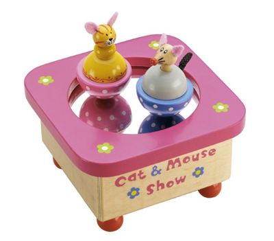 Tidlo Wooden Cat & Mouse Music Box