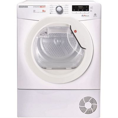 Hoover DNHD813A2-80 8kg Freestanding Sensor Condenser Tumble Dryer With Heat Pump White