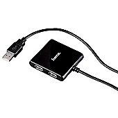 Hama USB 2.0 Hub 1:4 480Mbit/s Black interface