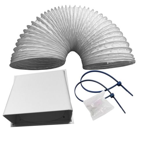 CDA AED51 Universal 1m x 125mm Cooker Hood Extractor Ducting Kit