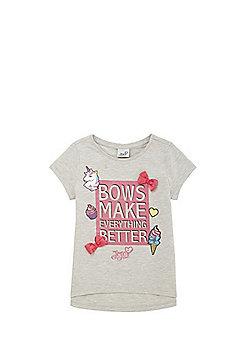 Nickelodeon JoJo Siwa Slogan T-Shirt - Grey