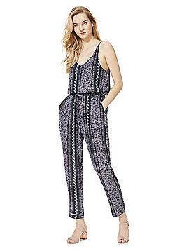 Mela London Drawstring Printed Jumpsuit - Blue