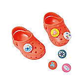 Baby Born Customisable Pin Shoes - Orange