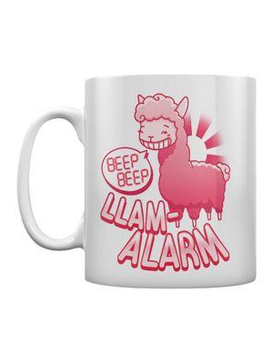 Llama Alarm Beep Beep 10oz Ceramic Mug, White
