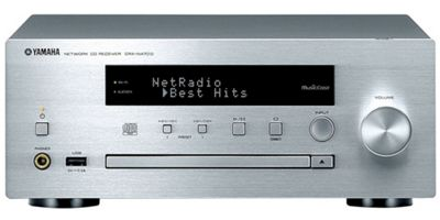 Yamaha CRX-N470D Networked CD Receiver with DAB/FM radio and MusicCast (Silver)