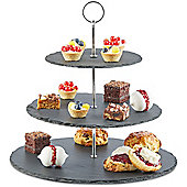 Andrew James 3 Tier Slate Cake Stand in Grey