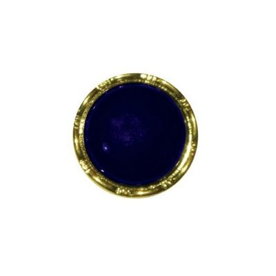 Hemline Navy with Decorative Gold Rim Buttons 17.5mm 3pk
