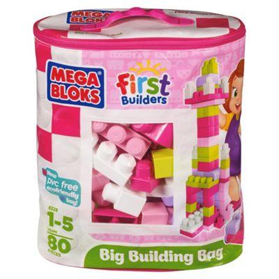 Mega Bloks First Builders Pink 80-Piece Big Building Bag