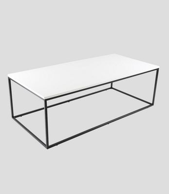 Louis High Gloss Rectangle Coffee Table White