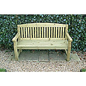 Swedish Redwood Hardwearing Garden Bench (5ft / 150cm)