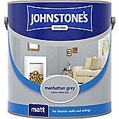 Johnstones No Ordinary Paint Water Based Interior Vinyl Matt Emulsion Tester Pot Manhattan Grey 75ml