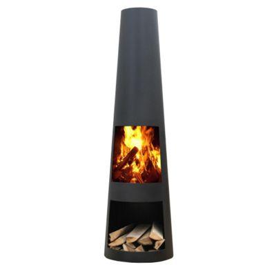 Gardenmaxx Rengo XL 145cm Fireplace - Black