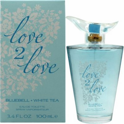 Love2Love Bluebell + White Tea Eau de Toilette (EDT) 100ml Spray For Women