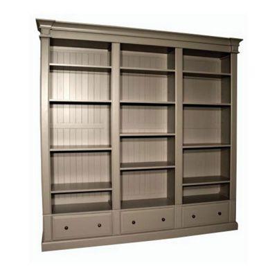 Alterton Furniture Triple Bookcase in Grey