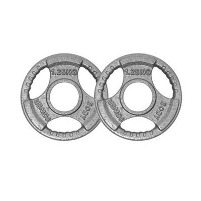Body Power Tri Grip Cast Iron Olympic (2 Inch) Discs - 1.25Kg (x2)