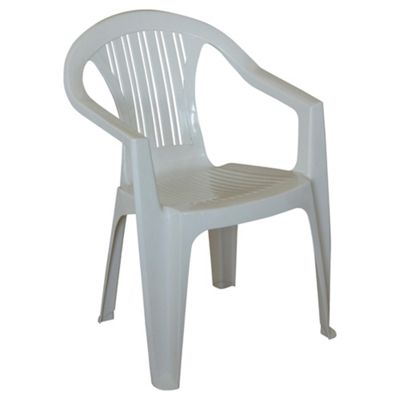 Delicieux Plastic Stacking Garden Chair, White