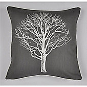 Fusion Woodland Trees Cushion Cover 43x43cm - Charcoal