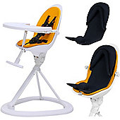 ickle bubba Orb+ Highchair (White/Yellow)