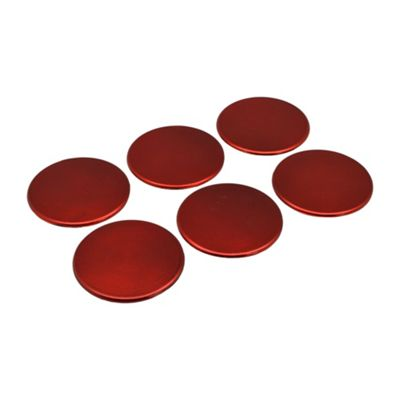 Round Drinks Coasters in Red - 100mm - Pack Of 6