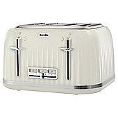 Breville VTT702 Impressions 4 Slice Toaster - Cream
