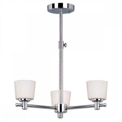 Polished Chrome Bathroom Chandelier - 3 x 3.5W LED G9