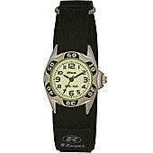 Boys Black Nite-Glo Velcro Strap Watch