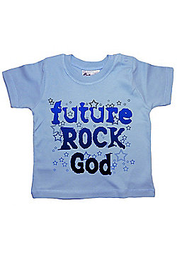 Dirty Fingers Future Rock God Baby T-shirt - Blue