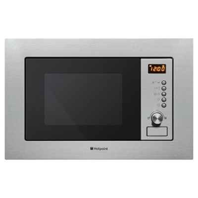 Hotpoint Mwh122 1x Newstyle Built In Microwave With Grill Stainless Steel Silver