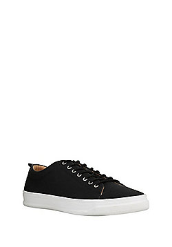 F&F Faux Leather Lace-Up Trainers - Black
