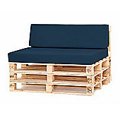 Water Resistant Pallet Small Back Cushion - Navy