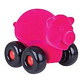 Rubbabu Large Aniwheel Pig (Pink)